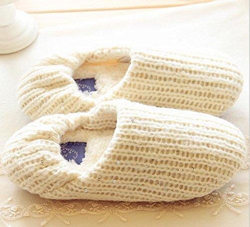 HH Laine tissés à la main chaussures anti-dérapantes couple thermique Chaussures femmes