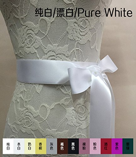 Ceintures Mariage Cristal Femmes Mariée Annie Mariées Sashes Accessories35 Robe Formelle Blanc Pur