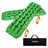 ORCISH Recovery Traction Boards Tracks Tire Ladder for Sand Snow Mud 4WD(Set of 2) Green