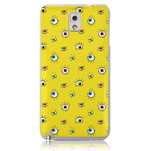 Xtra-Funky Serie Samsung Galaxy Note 3 de dibujos animados loco ojos saltones cubierta de la caja de plástico duro - Señorita Ojos en Amarillo