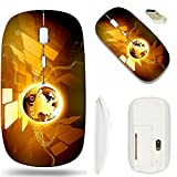 MSD Wireless Mouse White Base Travel 2.4G Wireless Mice with USB Receiver, Noiseless and Silent Click with 1000 DPI for notebook, pc, laptop, computer, mac book design 19032635 Best Internet Concept o
