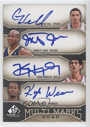 George Hill; Jarrett Jack; Kirk Hinrich; Kyle Weaver #35/99 (Basketball Plan) 2009-10 SP Game Used - Multi Marks Quad Autographs - [Autographed] #MQ-HJWH