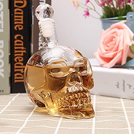 1pcs crystal skull head shot glass party transparent champagne cocktails beer coffee wine bottle doomed drinkware - Halloween Pitchers