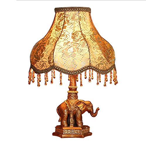 MILUCE European Style Table Lamp Bedroom Luxury Bedside Lamp Retro Decoration Study Elephant Lamp by MILUCE (Image #2)