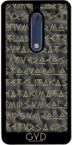 Funda de silicona para Nokia 5 - Texto Vikingo by hera56