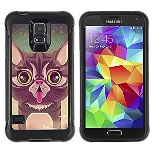 Hybrid Anti-Shock Defend Case for Samsung Galaxy S5 / Cute Cat