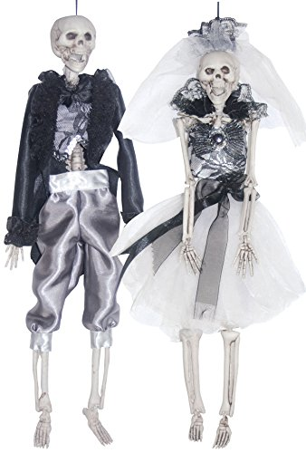 Halloween Skeletons Decoration Scary Bride and Groom Set 16 (Bride And Groom Skeleton)