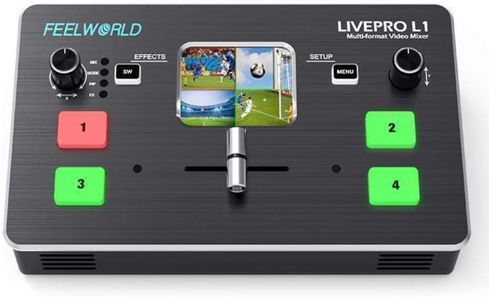 Feelworld LIVEPRO L1 Mezclador de vídeo multiformato 4 HDMI