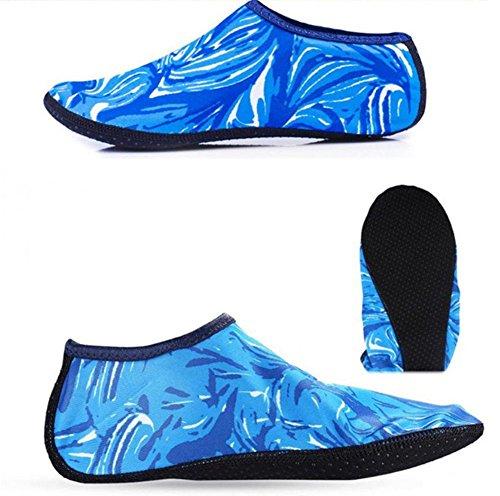 De Yoga Exercice Chaussures Coloré Bleu Plein Des Chaussettes Air Plongée Apnée Protection En Pieds Antidérapant Distinct 5FqzPwxx