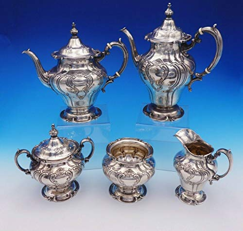 Chantilly Duchess by Gorham Sterling Silver Tea Set 5pc Hand Chased (#3216) ()