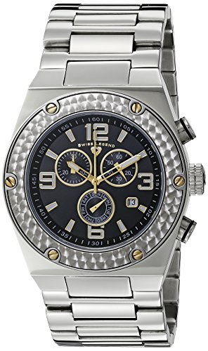 Swiss Legend Throttle - Swiss Legend Men's 40025P-11-GA Throttle Chronograph Black Dial Watch