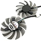 FD7010H12S 75MM Cooler Fan For Sapphire HD7850 HD6930 0.35A 40mm 4Pin Cooling Fan (2pcs/lot)