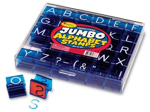 - Learning Resources Jumbo Uppercase Alphabet Stamps