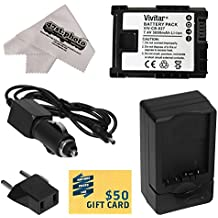 Canon BP-827 BP827 Lithium Ion Replacement Battery Pack 3000MAH + Rapid AC/DC Battery Charger For The Canon HF S10 S11 S20 S21 S30 G10 G20 S100 M30 M31 M32 M40 M41 M300 M400 XA10, HF10, HF11, HF20, HF100, HF200, HG20, HG21, HG30, HFS10, HFS11, HFS20, HFS21, HFS30, HFG10, HFG20, HFS100, HFM30, HFM31, HFM32, HFM40, HFM41, HFM300 & HFM400 Video Camera Camcorders Includes 47stphoto Microfiber Cleaning Cloth Photo Print
