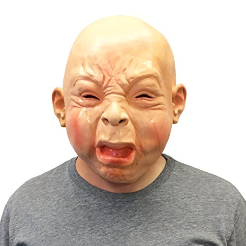 Off The Wall Halloween Costumes (Creepy Cry Baby Full Head Face Mask Halloween Costume - Off the Wall Toys)