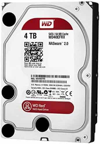WD Red 4TB NAS Hard Drive - 5400 RPM Class, SATA 6 Gb/s, 64 MB Cache, 3.5