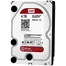 """WD Red 4TB NAS Hard Drive - 5400 RPM Class, SATA 6 Gb/s, 64 MB Cache, 3.5"""" - WD40EFRX"""