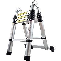 LARS360 Télescopique Multi-Fonction Echelle Pliable Extensible aluminium Portable et Pliante Escabeau, 3.8m pliable