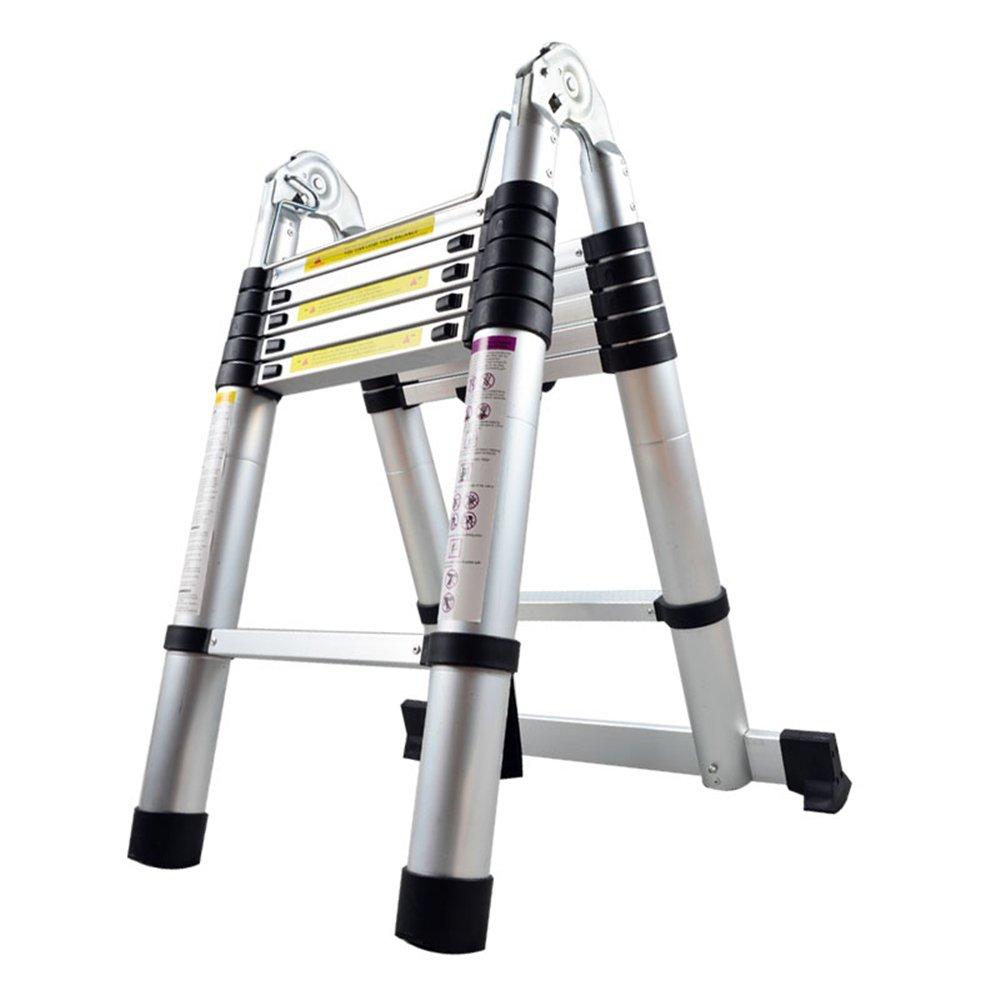 LARS360 4.4m Escalera Telesc/ópica Multifunci/ón Escalera extensible multiusos Plegable Escaleras Alto de llamas aluminio