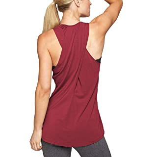 Mippo Workout Clothes for Women Yoga Shirts Woman Loose Flowy Muscle Athletic Tank Tops Active Gym Fitness Workout Tops Active Sports Wear Summer Fashion 2020 for Women Wine Red XXL