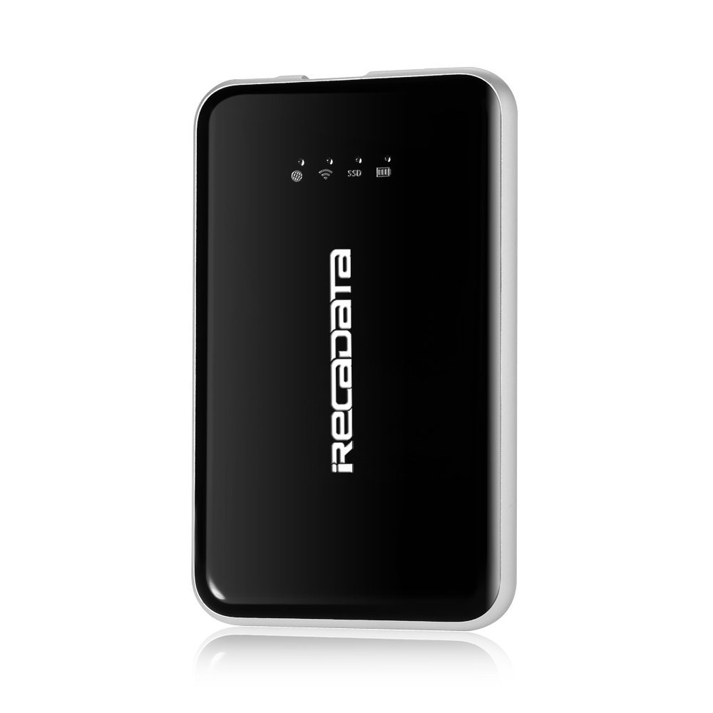 Solid State Drive SSD,WiFi Wireless 256GB Portable 3 in 1,Wifi Router SSD IRECADATA i7,USB3.1 Type C Built-in 2250mAh Power Bank Compatible With Android/IOS/Mac/Laptop/Tablet,Shockproof Function