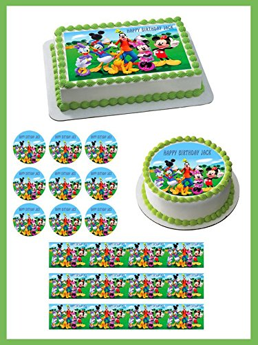 Mickey Mouse Clubhouse (Nr3) - Edible Cupcake Toppers - 1.8