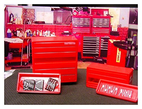 NEW TWO TOOL BOXES CRAFTMASTER DIORAMA ACCESSORIES 1/24 G SCALE MINIATURE FIGURE
