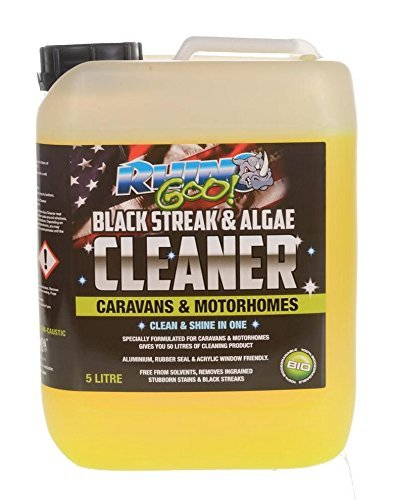 Rhino Goo! Detergente per Camper concentrato da 5 litri - Detergente per Camper e Camper - Striscia nera e Dispositivo di rimozione di alghe - Anche un efficace detergente UPVC e conservatorio