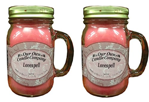 激安本物 Lovespell 13oz 2 - Pack香り大豆ブレンドキャンドルin Mason Jars Made by Our HR Made Our Own Candle Co in usa-100 HR BURN時間あたりCandle B00Z7QC140, Deco's Dog Cafe:c09b6ff8 --- albertlynchs.com