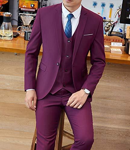Solove-Suit - Traje - para Hombre Morado 52: Amazon.es: Ropa y ...