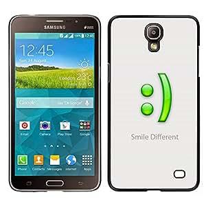 Caucho caso de Shell duro de la cubierta de accesorios de protección BY RAYDREAMMM - Samsung Galaxy Mega 2 - Sonrisa Diferente