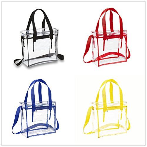 Stadium Men for Clear Transparent Tote Transparent Tote Shoulder Yiuswoy Red Yellow Waterproof Women Bag Swimming Handbag and PVC q7wxIU1vO