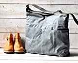 Waxed Canvas Diaper Bag Grey WCD02