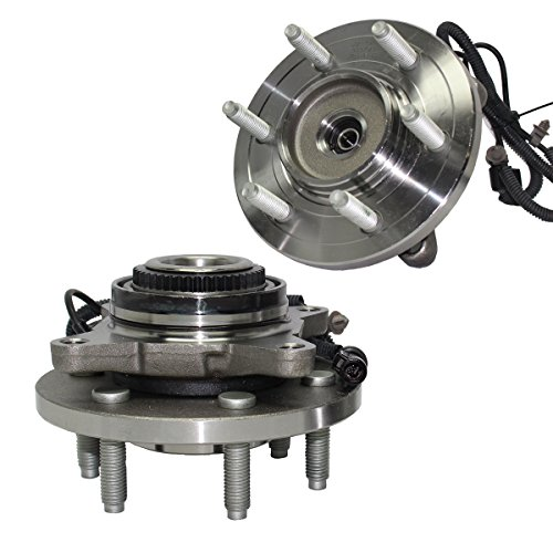 Detroit Axle Set of (2) Front Wheel Bearing and Hub Assembly - Driver & Passenger Side fits 4x4 2007-2010 Ford Expedition - [2007-2010 Lincoln Navigator] 4x4
