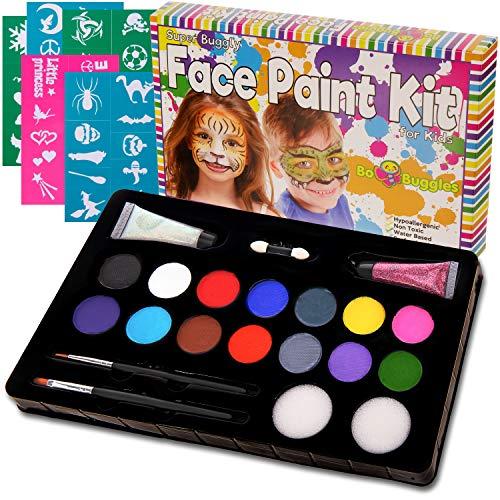 Bo Buggles Kids Face Paint Kit + 50