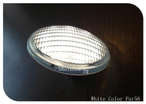 5rainbow® White Color 54w(18x3w) Par56 Led Swimming Pool Light Bulb Lamp To  Replace Halogen 300 To 500w Watt Swimming Pool Light Wide Flood Par56 12  Volt ...