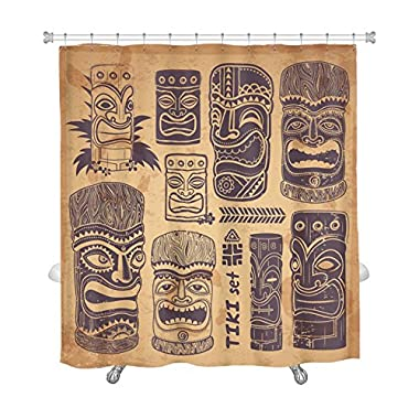 Gear New Shower Curtain, Image Of Vintage Aloha Tiki Set, GN2048476