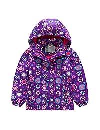 Lau's Girls Windbreaker Coat Kids Fleece Lined Windproof Jackets Outerwear