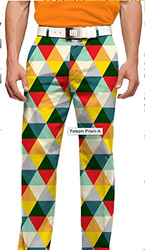 Loudmouth Golf Men's Folsom Prism 34/32 Pants