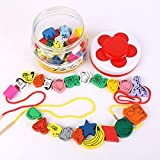 GuiZhen Girl Gift Wooden 45 Large Beads Wearing Beaded Amblyopia Children Baby Early Education...