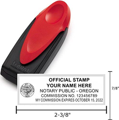 Standard Red Trodat 9413 Mobile Printy Notary Pocket Stamp | Oregon