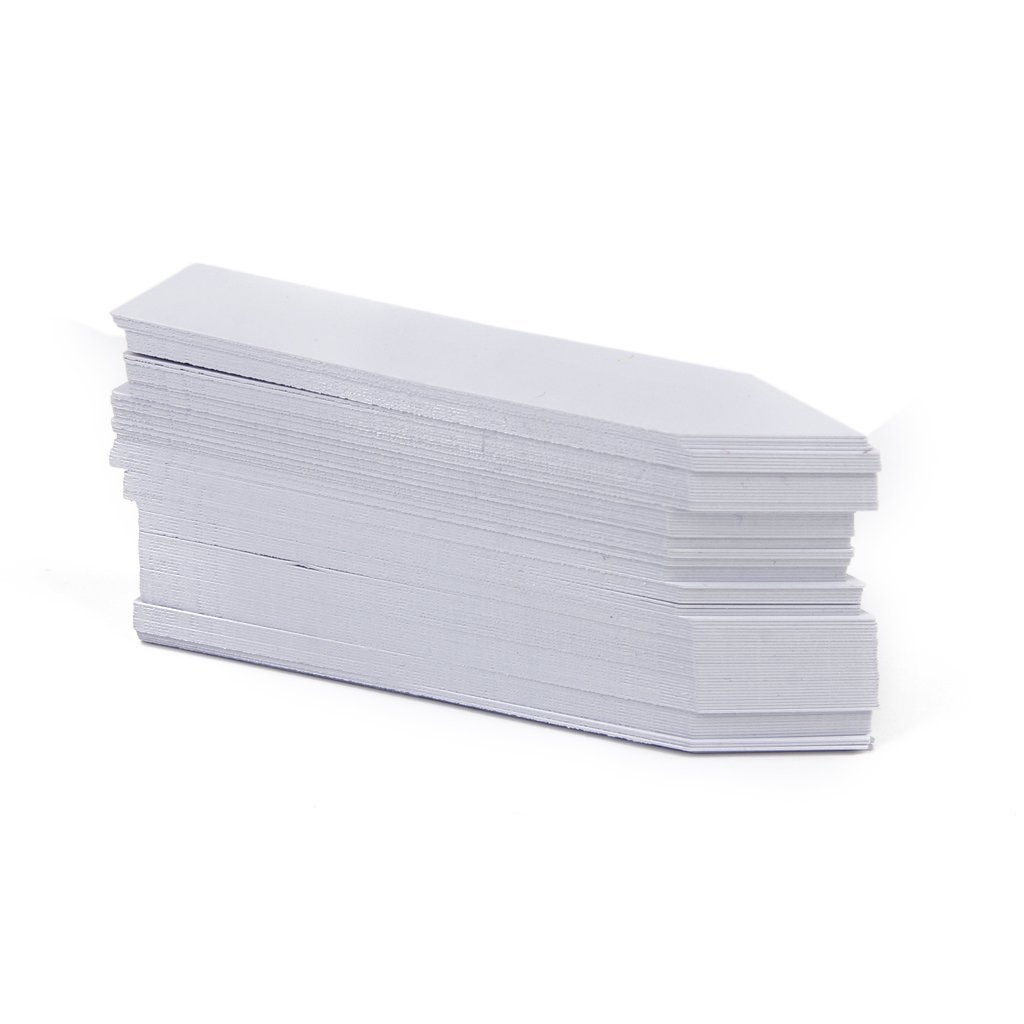 4 x 0.8 White APUXON 100 Pcs Long Stick in Garden Plant Seed Labels Nursery Stake Tags