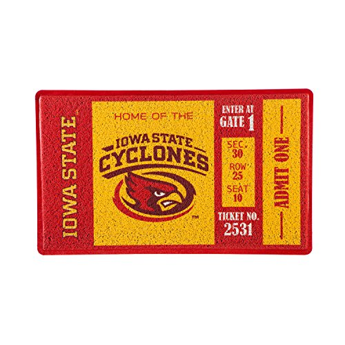 - Team Sports America Iowa State University Recyclable PVC Vinyl Indoor/Outdoor Weather-Resistant Team Logo Door Turf Mat