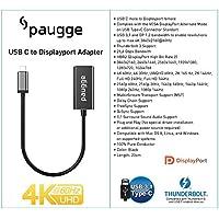 Paugge Thunderbolt 3 Destekli 4K 60Hz, 2K 165Hz USB C to Displayport Adaptör