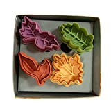 Yunko Cake Leaves Baking Pie Crust Cutters Set of 4
