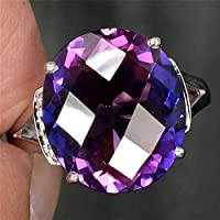 3.65ct Woman Charm 925 Silver Ring Alexandrite Wedding Ring Size 6-10 (7)