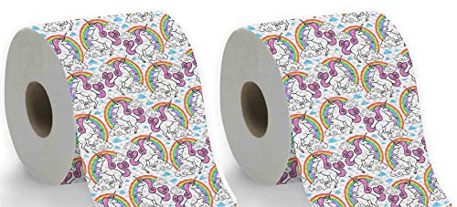 Kids Paper Toilet - Tavenly Unicorn Toilet Paper, 2 roll