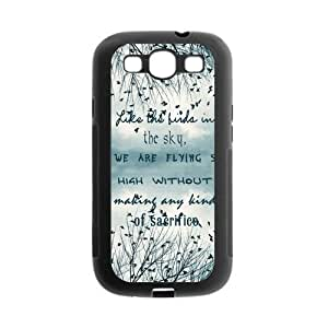 Be Free Birds Quote Protective Gel Rubber Back Fits Cover Case for SamSung Galaxy S3
