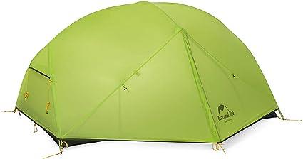 Naturehike Mongar Ultra l/éger Tente 2 Personnes 20d Coque en Silicone Double Couche Tente de Camping randonn/ée