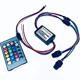 Rayauto 24key Remote RGB 2W DC 12V Car Home Light Side Glow Fiber Optic light Source illuminator Power Engine Supply Double Head